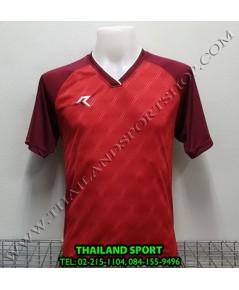 เสื้อกีฬา เรียล REAL รุ่น RAX-012 (สีแดง RU) พิมพ์ลาย