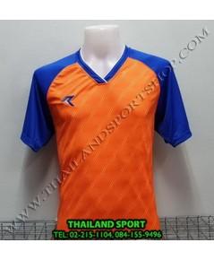 เสื้อกีฬา เรียล REAL รุ่น RAX-012 (สีส้ม OB) พิมพ์ลาย