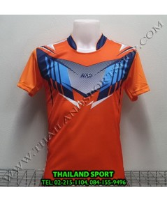 เสื้อกีฬา NAP SPORT รุ่น 16 (สีส้ม) พิมพ์ลาย