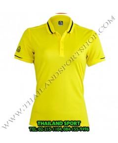 เสื้อ POLO SHIRT อีโก้ EGO SPORT รุ่น EG 6152 (สีเหลือง) WOMEN