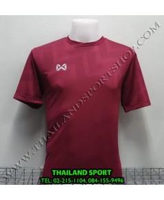 เสื้อกีฬา วอริค WARRIX รหัส WA 1569 (สีเลือดหมู MM) ผ้าทอลาย