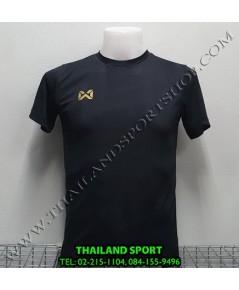 เสื้อกีฬา วอริค WARRIX รหัส WA 1569 (สีดำ AA) ผ้าทอลาย