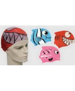 หมวกว่ายน้ำ f.b.t. รุ่น fish (r, l, p)