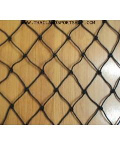 สำเร็จรูป แบบที่ 14 เชือกไนล่อน hdpe (สีดำ เส้น 2.5 mm., ช่อง 5x5 นิ้ว, 8x50 m.) pro ok ...