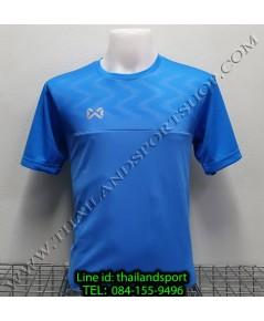 เสื้อกีฬา วอริค warrix รหัส wa-fba573 (สีน้ำเงิน bb) พิมพ์ลาย ตัดต่อ