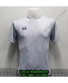 เสื้อกีฬา วอริค warrix รหัส wa-fba574 (สีเทา ee) ผ้าทอลาย
