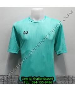 เสื้อกีฬา วอริค warrix รหัส wa-fba574 (สีเขียวมินท์ g5) ผ้าทอลาย