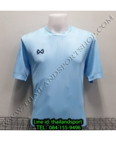 เสื้อกีฬา วอริค warrix รหัส wa-fba574 (สีฟ้า ll) ผ้าทอลาย