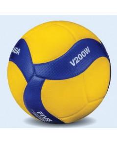 ลูกวอลเลย์บอล มิกาซ่า volleyball mikasa รุ่น v200w (yb) เบอร์ 5 หนังอัด pu nk+