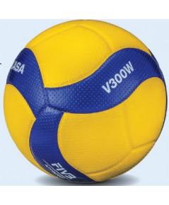 ลูกวอลเลย์บอล มิกาซ่า volleyball mikasa รุ่น v300w (yb) เบอร์ 5 หนังอัด pu nk+