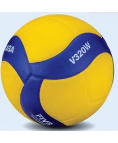 ลูกวอลเลย์บอล มิกาซ่า volleyball mikasa รุ่น v320w (yb) เบอร์ 5 หนังอัด pu nk+