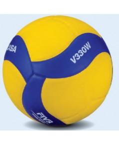 ลูกวอลเลย์บอล มิกาซ่า volleyball mikasa รุ่น v330w (yb) เบอร์ 5 หนังอัด pu nk+