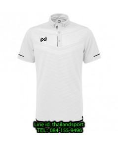 เสื้อโปโลกีฬา polo วอริกซ์ warrix รุ่น wa-3318 (สีขาว-ดำ wa ) ทอลาย