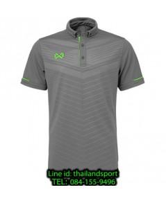 เสื้อโปโลกีฬา polo วอริกซ์ warrix รุ่น wa-3318 (สีเทา-เขียว eg) ทอลาย