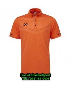 เสื้อโปโลกีฬา polo วอริกซ์ warrix รุ่น wa-3318 (สีส้ม-ดำ oa) ทอลาย