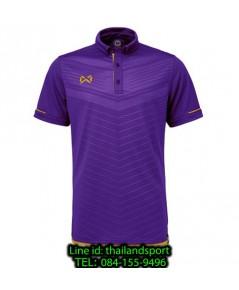 เสื้อโปโลกีฬา polo วอริกซ์ warrix รุ่น wa-3318 (สีม่วง-ทอง vn) ทอลาย