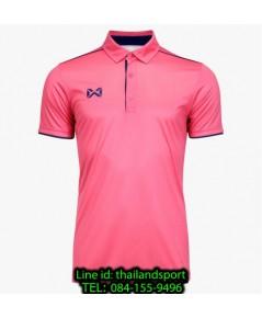 เสื้อโปโลกีฬา polo วอริกซ์ warrix รุ่น wa-3326 (สีชมพู-กรมท่า pd )