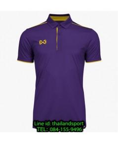 เสื้อโปโลกีฬา polo วอริกซ์ warrix รุ่น wa-3326 (สีม่วง-เหลือง vy)
