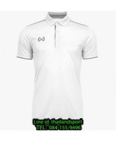 เสื้อโปโลกีฬา polo วอริกซ์ warrix รุ่น wa-3326 (สีขาว-เทา we)