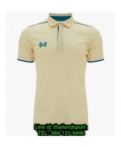 เสื้อโปโลกีฬา polo วอริกซ์ warrix รุ่น wa-3326 (สีเหลืองอ่อน-ฟ้าทะเล yi)