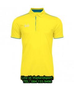 เสื้อโปโลกีฬา polo วอริกซ์ warrix รุ่น wa-3326 (สีเหลือง-ขาว yw)
