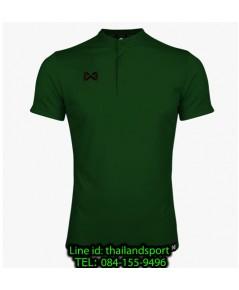 เสื้อโปโลกีฬา คอจีน polo วอริกซ์ warrix รุ่น wa-3329 (สีเขียว gg)