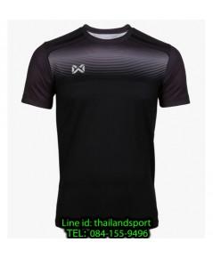 เสื้อกีฬา วอริกซ์ warrix รหัส wa-211fbacl04 (สีดำ aa) พิมพ์ลาย