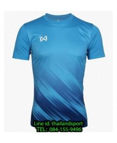 เสื้อกีฬา วอริกซ์ warrix รหัส wa-211fbacl02 (สีฟ้า ll) พิมพ์ลาย
