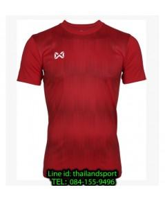 เสื้อกีฬา วอริกซ์ warrix รหัส wa-211fbacl01 (สีแดง rr) พิมพ์ลาย