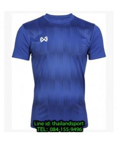เสื้อกีฬา วอริกซ์ warrix รหัส wa-211fbacl01 (สีน้ำเงิน bb) พิมพ์ลาย