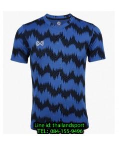 เสื้อกีฬา วอริกซ์ warrix รหัส wa-211fbacl03 (สีน้ำเงืน bb) พิมพ์ลาย