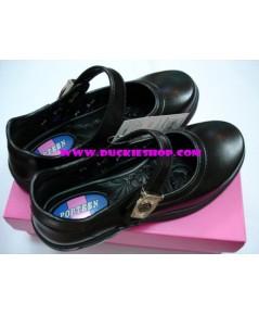 รองเท้านักเรียนเด็กโต (หญิง) POPTEEN เบอร์ 35 - 41 แบบตัวล็อก
