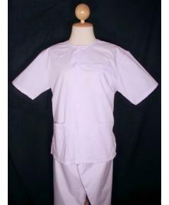 เสื้อผ้าชุดขาว ชุดปฏิบัติธรรม - (ชุดเสื้อขาว เสื้อปฏิบัติธรรม บนาด L +กางเกงเล) ราคา 285 บาท