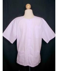 ชุดขาว ชุดปฏิบัติธรรม - เสื้อขาว เสื้อปฏิบัติธรรม บนาด L