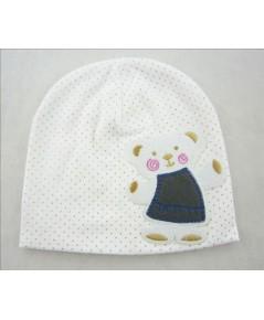 หมวกแร๊ป คุณหมี (สีขาว) หมวกเด็กเกาหลี น่ารักๆ