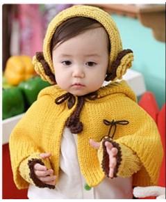 คาดผมใหมพรมดอกไม้ (สีเหลือง) แถมฟรีผ้าคลุมใหล่เข้าชุด น่ารักเกาหลีมากๆ