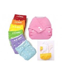กางเกงซับฉี่นาโน sunny baby แบบกระดุม สำหรับเด็กวัย 0 - 2 ขวบ แถมผ้าซับหนา 3ชั้น 2ผืน