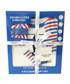 Gift Set ชุดของขวัญ สำหรับเด็กอ่อน Wonder Child Collection 4 รายการ (WC002-01) สีฟ้า