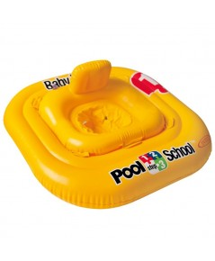 ห่วงยางว่ายน้ำสอดขา Pool School รุ่น Deluxe baby float Step 1 ขนาด 79cmX79cm. by INTEX