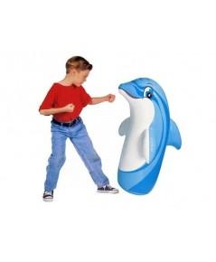 ตุ๊กตาล้มลุก Punching bag ลายเสือ สีม่วง (ฐานน้ำ ต้องเติมน้ำก่อนเป่าลม) ความสูง 98 ซม.
