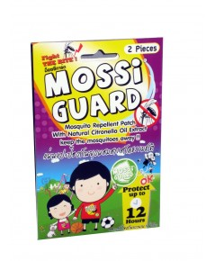 Mossi Guard (แพคคู่ แบบกล่อง 2 กล่อง ซื้อเยอะถูกกว่า) แผ่นแปะป้องกันยุงกัด ที่ปลอดภัยและดีที่สุด