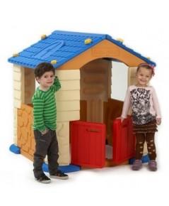 บ้านเด็กเล่น EDU PLAY HOUSE จากเกาหลี แบบที่ 1 - สีน้ำตาล หลังคาน้ำเงิน