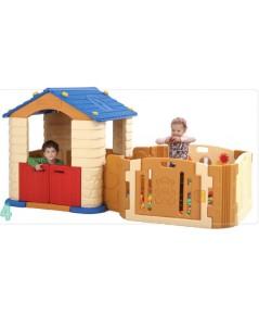 ชุดบ้านเด็กเล่น EDU PLAY HOUSE กับคอกกั้น Happy baby room จากเกาหลี แบบที่ 1