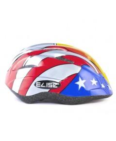 หมวกกันน๊อคเด็ก สำหรับใส่ป้องกันศรีษะเด็ก (ลายสีน้ำเงิน แดง) แบรนด์ ELISE KID