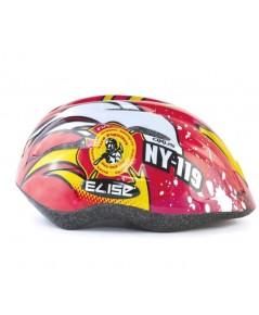 หมวกกันน๊อคเด็ก สำหรับใส่ป้องกันศรีษะเด็ก (ลายสีแดง) แบรนด์ ELISE KID