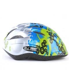 หมวกกันน๊อคเด็ก สำหรับใส่ป้องกันศรีษะเด็ก (ลายสีน้ำเงิน เขียว) แบรนด์ ELISE KID