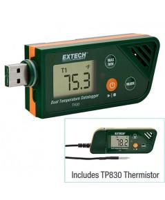 เครื่องบันทึกอุณหภูมิ 2จุด ภายใน/ภายนอก USB Dual Temperature Datalogger รุ่น TH30 ***โปรโมชั่น
