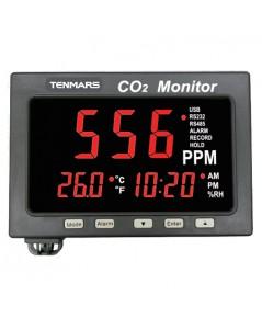 เครื่องบันทึกอุณหภูมิ ความชื้น Temperature / Humidity / CO2 LED Monitor Tenmars รุ่น TM-187A