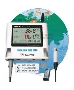 เครื่องบันทึกอุณหภูมิความชื้นแจ้งเตือน SMS, GSM Alarm Data Logger รุ่น S500-EX-GSM