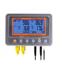 เครื่องวัดอุณหภูมิ 4 channel K thermometer SD card data logger w/Relay รุ่น 88599